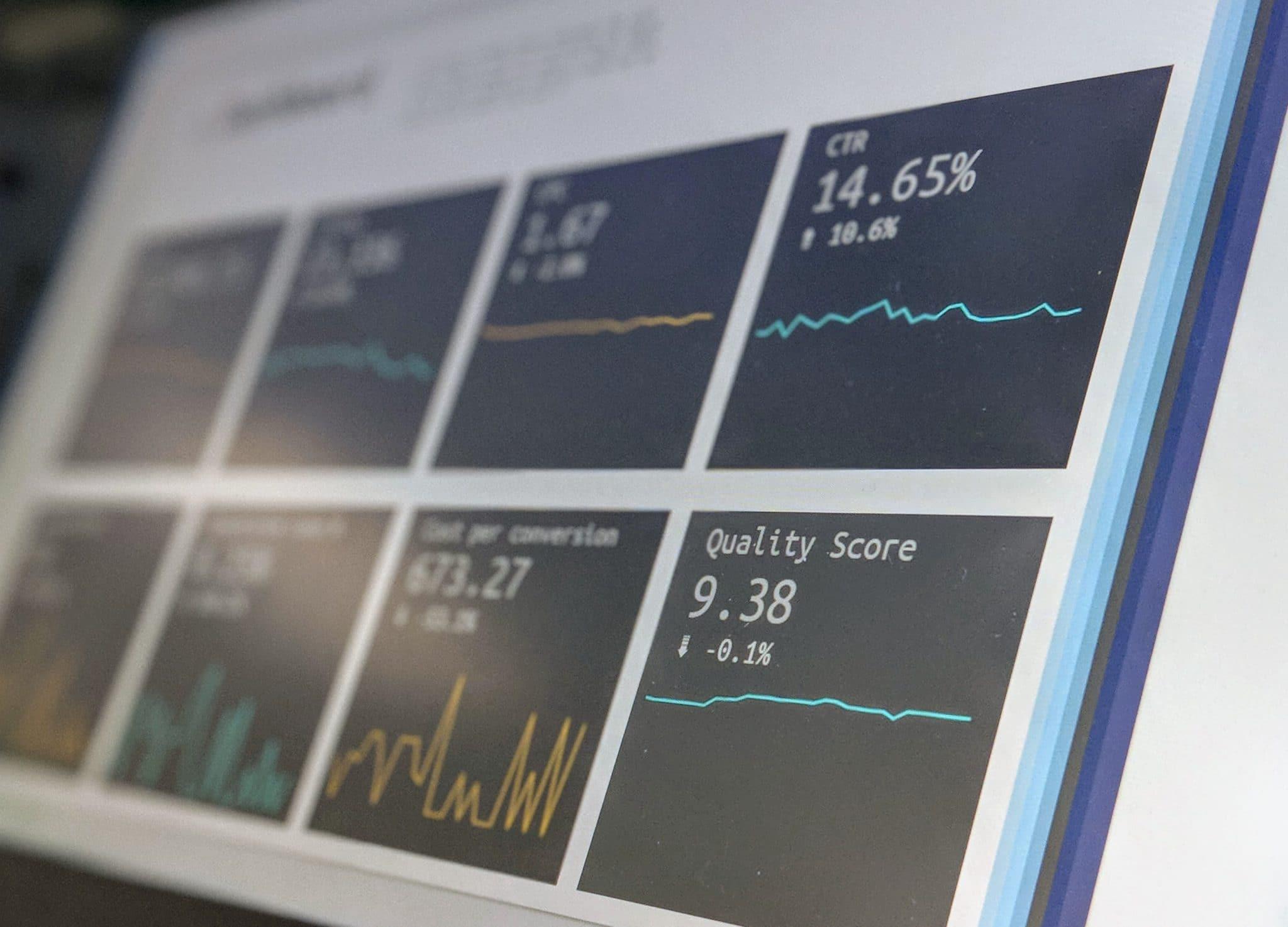 Dashboard met data bij trends in marktonderzoek